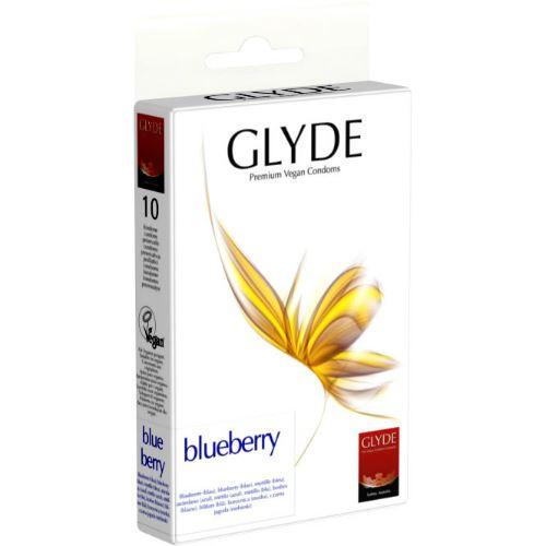 Glyde Premium Vegan Condooms Blueberry - 10 stuks