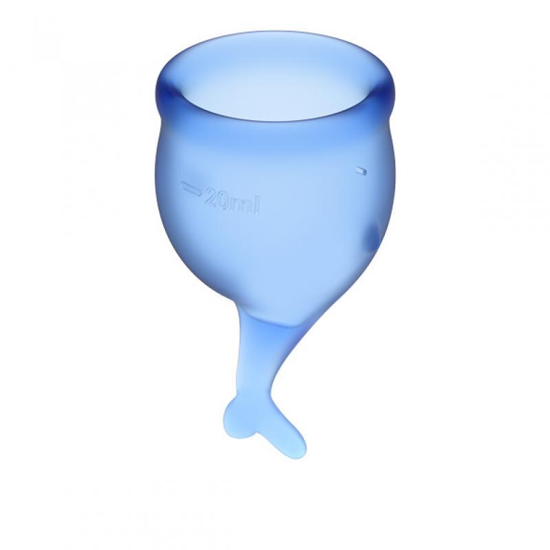 Satisfyer Feel Secure Menstruatiecup Set - Blauw