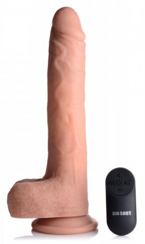 Vibrerende&Stotende Realistische XL Dildo met Zuignap en Ballen -16.5 cm